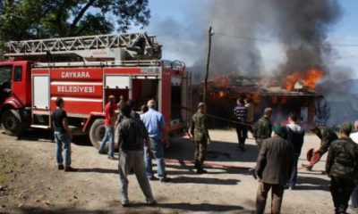 Eğridere Köyünde Yangın
