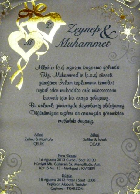 Düğüne Davet Muhammet Ocak Evleniyor 3
