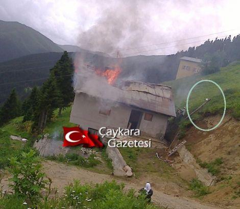 Kama Yaylasında Bir Ev Elektrik Kontağından Yandı 3